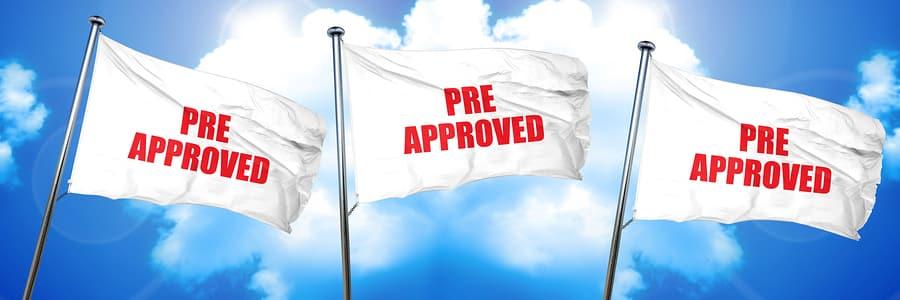 pre approved, 3D rendering, triple flags
